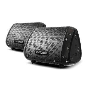 Dos Parlantes Portátiles MOTOROLA Sub 340 IPX5 Bluetooth