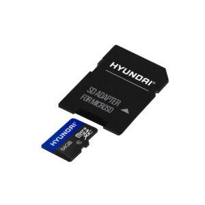 MicroSD 64 GB con SD Adaptor Class HYUNDAI